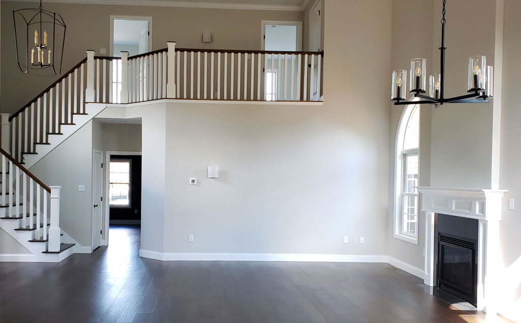 CQC Model Home Living Room with stairs