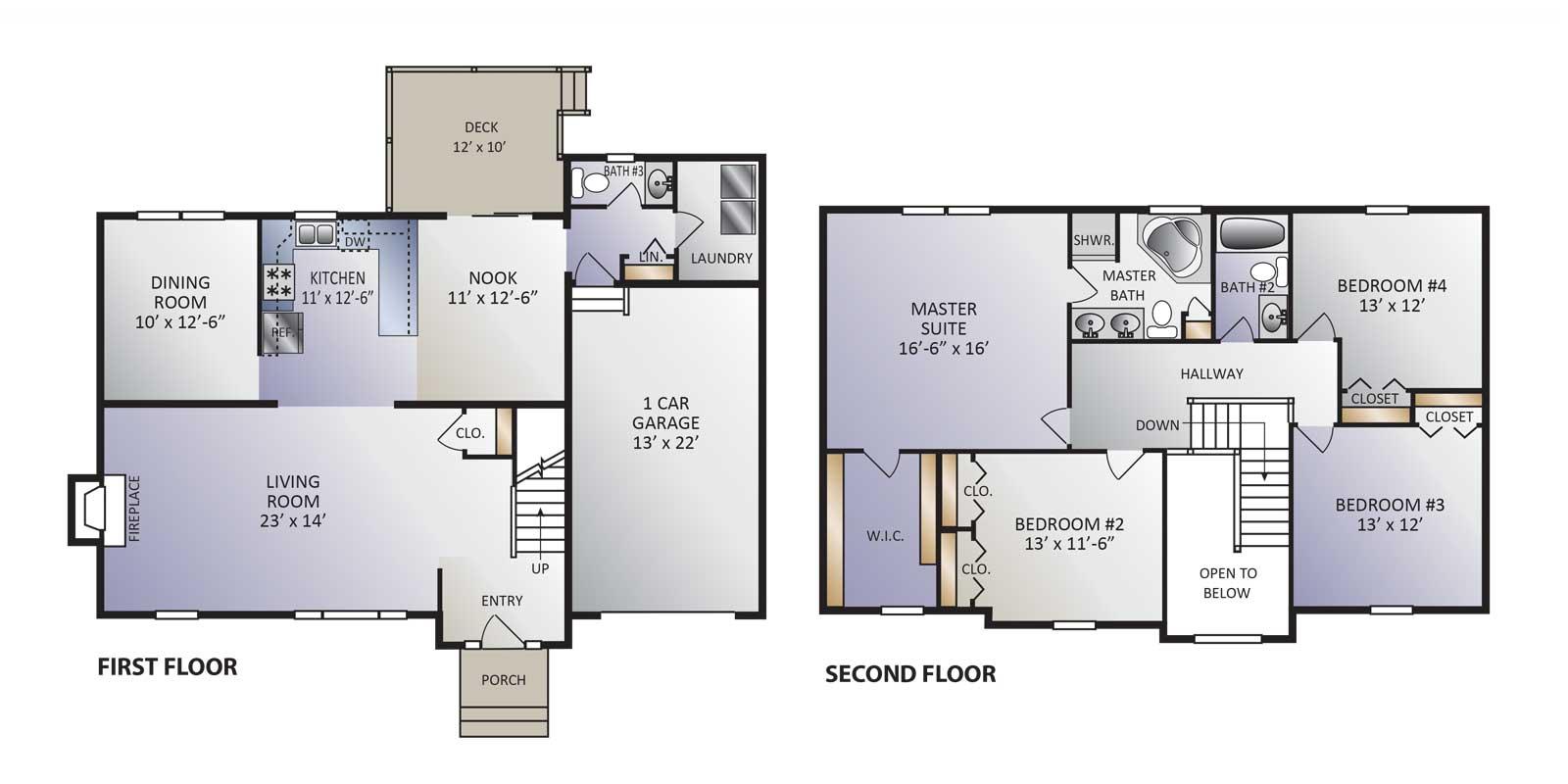 Roxbury Model Floor Plan