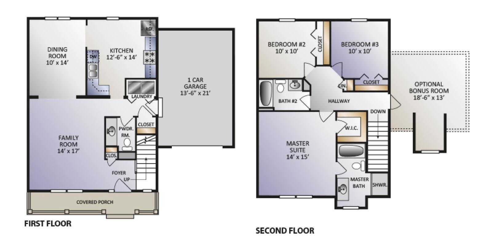 Pinebrook model floor plan
