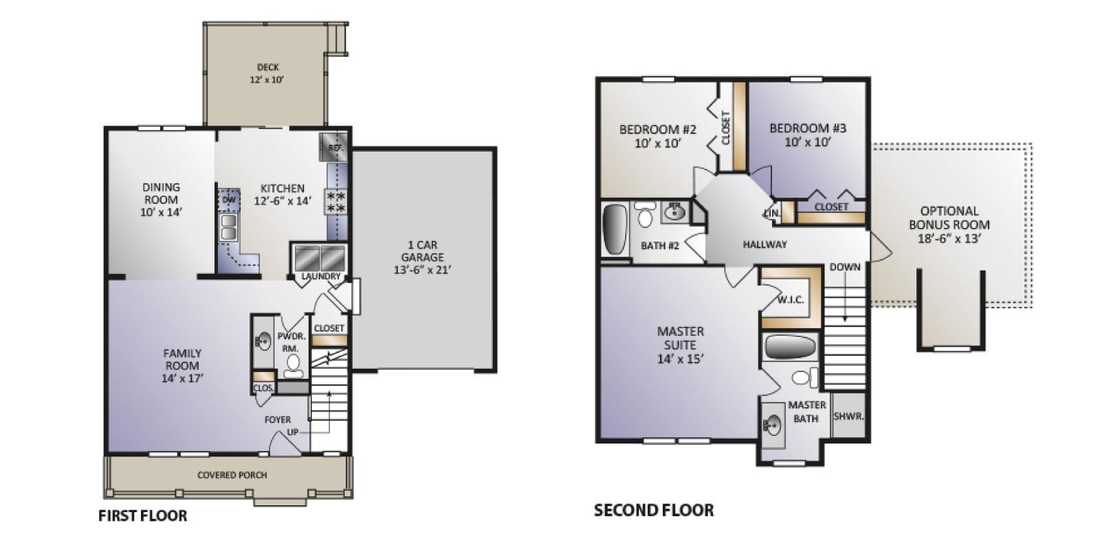 Pinebrook Model floor plan aleternative