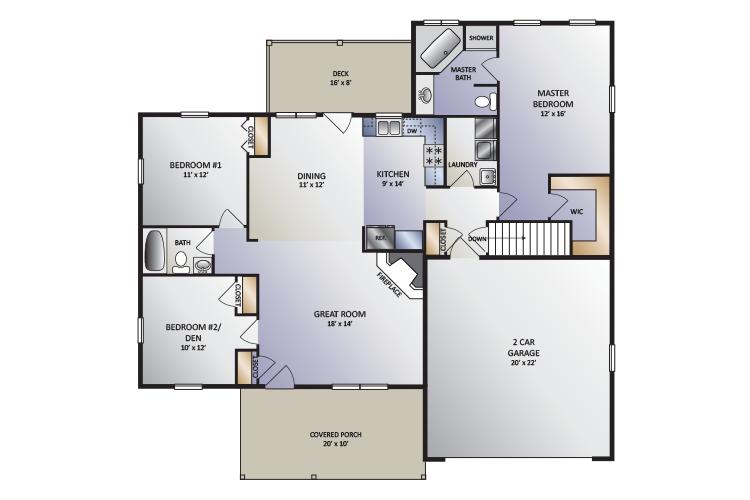 Cedar Hill Model home floor plan