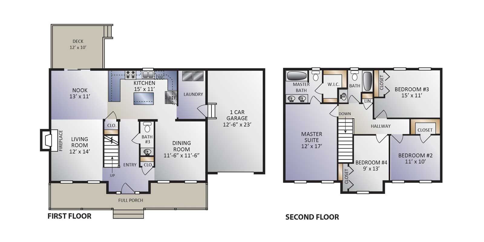 Millburn Model floor plan